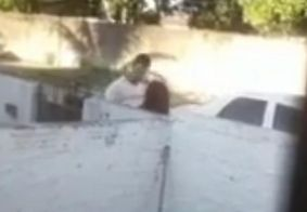 Vídeo | Mulher é agredida e ameaçada com arma de fogo pelo ex-marido