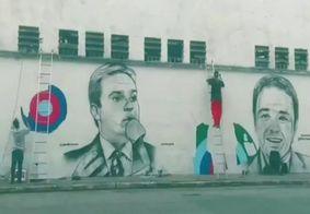 Vídeo: grafiteiro faz homenagem a Gugu com arte em muro de São Paulo