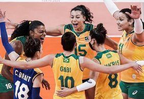 Brasil tem vitória apertada contra República Dominicana no vôlei feminino