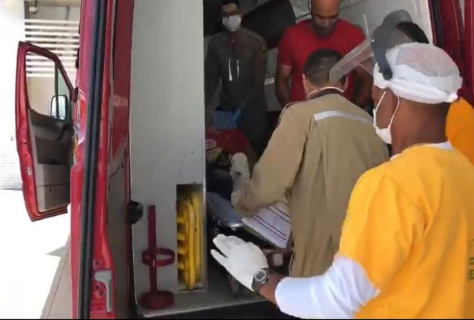 Vítima foi levada ao Hospital de Emergência e Trauma da capital
