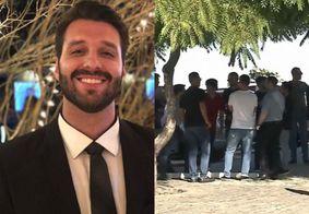 Empresário que morreu após festa de Gkay é enterrado sob comoção