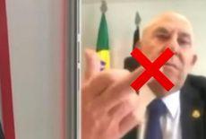 Vídeo: senador mostra o 'dedo do meio' durante entrevista ao falar de colega com Covid-19