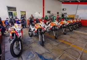 Oito novas motolâncias são entregues na sede do SAMU em João Pessoa