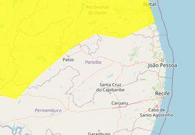 Inmet emite alerta de chuvas intensas para 73 cidades da PB; veja lista