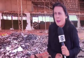 Explosão assusta e irrita repórter da globo durante link ao vivo