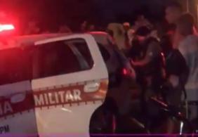 Viatura da PM é danificada após prisão de suspeito na Grande João Pessoa