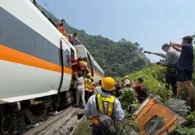 Descarrilamento de trem em Taiwan deixa pelo menos 48 mortos