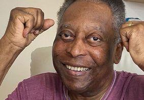 Pelé comemorou a alta através das redes sociais