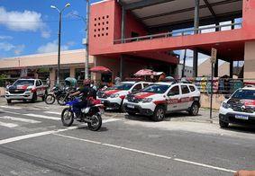 Policiamento no Mercado Central de João Pessoa.