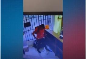 Câmeras flagram assaltos em frigorífico e loja, em João Pessoa