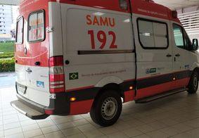 Momento em que a ambulância trazia a vítima ao Trauma