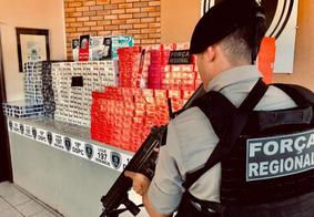 Polícia apreende mais de 500 caixas de cigarro sem nota fiscal na PB