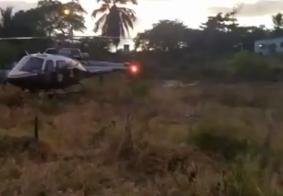 Vídeo: idoso é socorrido de helicóptero após acidente no Litoral Sul