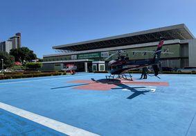 Vítima foi socorrida de helicóptero ao Hospital de Emergência e Trauma