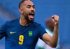Matheus Cunha pela Seleção Brasileira, nos Jogos de Tóquio