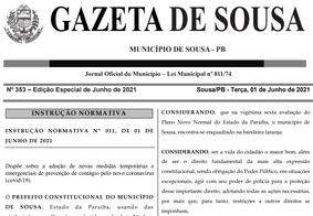 Prefeitura de Sousa, no Sertão