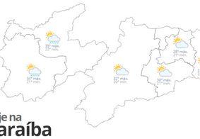 Confira a previsão do tempo para este sábado (24) na Paraíba