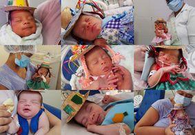 Hospital de João Pessoa faz sessão de fotos junina com recém-nascidos internados