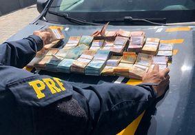 PRF prende homem com mais de R$ 98 mil escondidos em fundo falso de veículo na PB