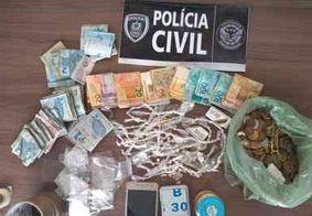 Polícia Civil prende homem em flagrante e desarticula ponto de venda de drogas na PB