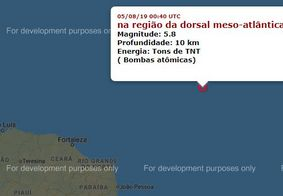 Marinha nega possibilidade de tsunami no Nordeste brasileiro após tremor no oceano