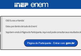 Página do Participante - Inep