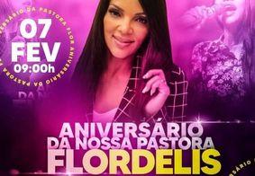 Flordelis ganha festa de aniversário e pede presença de fiéis