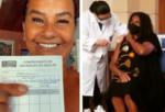 Atrizes compartilham com fãs alegria após tomarem vacina contra o Covid-19; veja