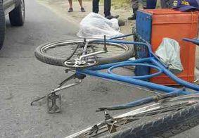 Ciclista morre atropelado por caminhão na Grande João Pessoa