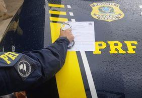 Foragido da justiça é preso pela PRF em Monteiro, no interior da Paraíba