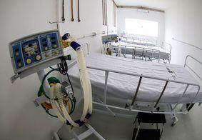 Leitos para pacientes com Covid-19, em Campina Grande.