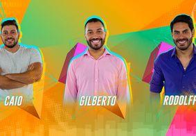 BBB21: Caio, Rodolffo e Gilberto estão no paredão