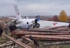 Avião com paraquedistas russos cai e mata ao menos 16 pessoas