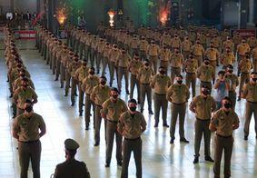 Solenidade de formatura de soldados da Polícia Militar realizada neste ano.