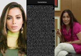 """Post de Anitta sobre entrevista de Regina Duarte à CNN repercute: """"O que tem sido feito?"""""""