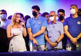 Daniella Ribeiro comemora vitória de Cícero Lucena