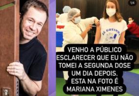 Tiago Leifert brinca sobre semelhança com Mariana Ximenes