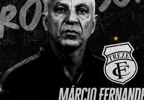 Treze oficializa Márcio Fernandes como novo treinador