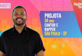 Com 91,89% dos votos, Projota é o sexto eliminado do BBB21