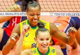 Brasil vence no vôlei feminino e garante vaga em Tóquio-2020