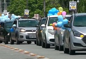 Vídeo: gestante ganha 'chárreata' surpresa com doação de fraldas e parabéns a distância em João Pessoa