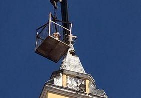 Restauração da Torre de Igreja atingida por raio termina neste domingo (14)