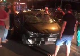 Motorista com indícios de embriaguez é detido depois de atropelar ciclista, em João Pessoa