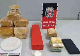 PM apreende mais de 7 kg de drogas e desarticula 'boca de fumo' em Santa Rita