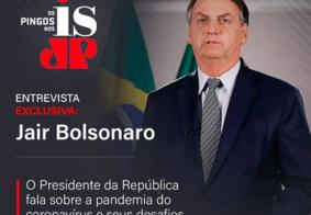 Ao vivo: acompanhe a entrevista do presidente Jair Bolsonaro na Jovem Pan