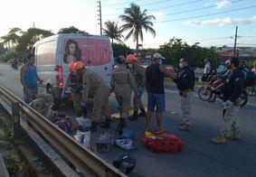 Motociclista fica ferido após colisão entre quatro veículos na BR-230