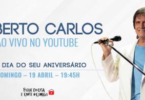 Live de aniversário de Roberto Carlos teve uma hora de duração e homenagem a países atingidos pela pandemia