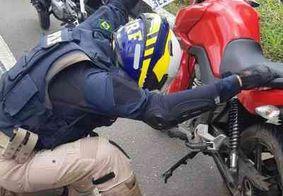 PRF-PB recupera motocicleta roubada na região metropolitana de João Pessoa