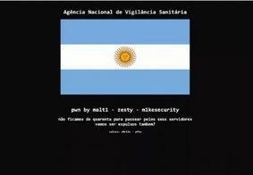 Anvisa tira site do ar após ataque hacker com bandeira da Argentina
