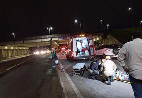 Colisão entre moto e bicicleta deixa dois feridos no Geisel